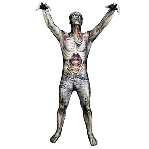 disfraz de monstruo morphsuit zombie - tamaño grande -