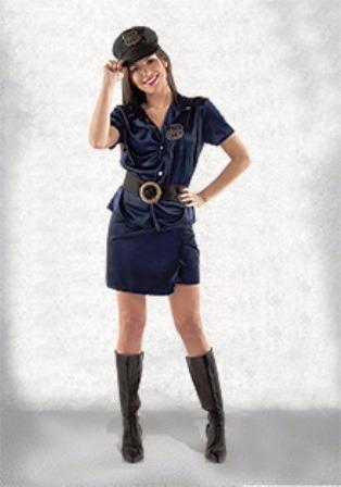 disfraz de mujer policia sexy adulto talle 1