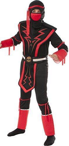 disfraz de ninja para niño talla s - rojo/negro