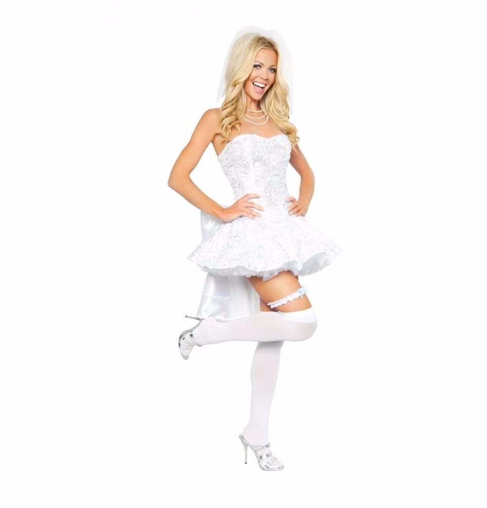 Chica1 Libre Novia Disfraz De Talla En Sexy 616 00 Mercado Y6gbfy7v