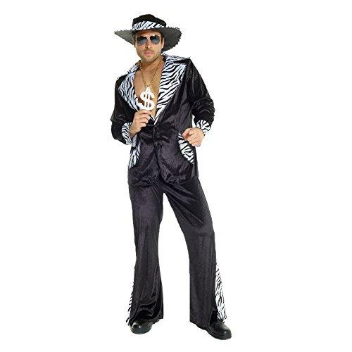 Disfraz traje negro hombre