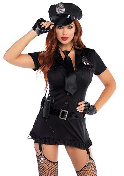Disfraz De Policía Con Accesorios Mujer Talla S-m Leg Avenue ... 6935c89fff3
