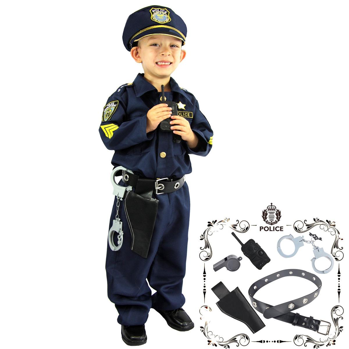 Disfraz De Policía Con Accesorios Para Niños De 3-4 Años -   204.900 ... e0c1da05afe