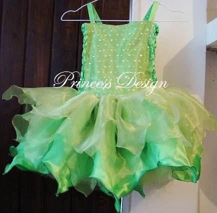 disfraz de princesa, campanita, hada, bailarina, tinkerbell