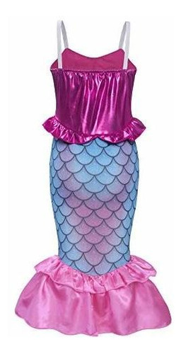 disfraz de princesa sirena de  para niñas vestido de lenteju