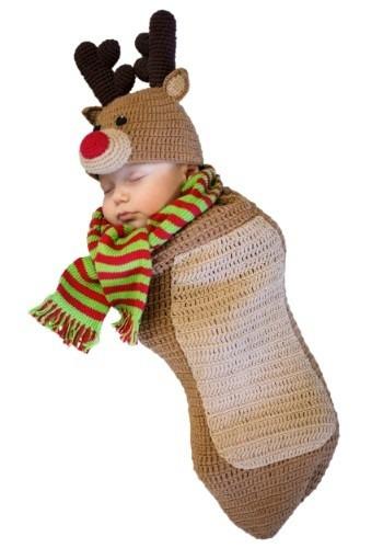 disfraz de rodolfo el reno de navidad venado para bebes