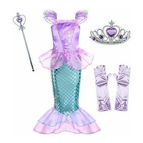 Disfraz De Sirena Para Niñas De 3 A 10 Años