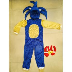 Disfraz De Sonic + Gorro + Accesorios! Calidad Premium