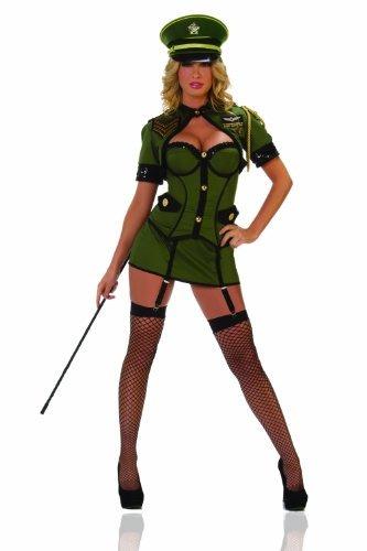 disfraz de starline sexy army general women's, verde, grande