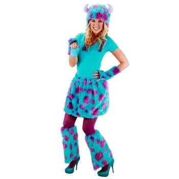 disfraz de sulley de monsters university para damas adultos
