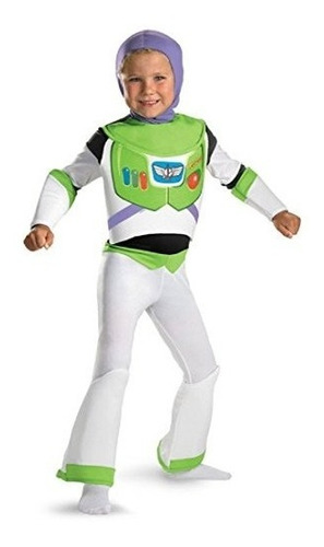 disfraz de toy story buzz lightyear deluxe - talla: 3t-4t