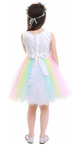disfraz de unicornio arcoiris para niñas falda de tul hincha