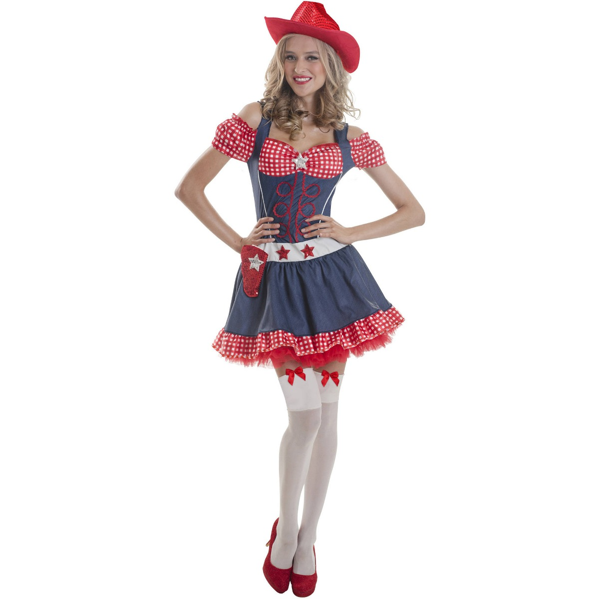 3f1b5fceea Disfraz De Vaquera Sexy Para Mujer Talla  Xl Halloween -   105.550 ...