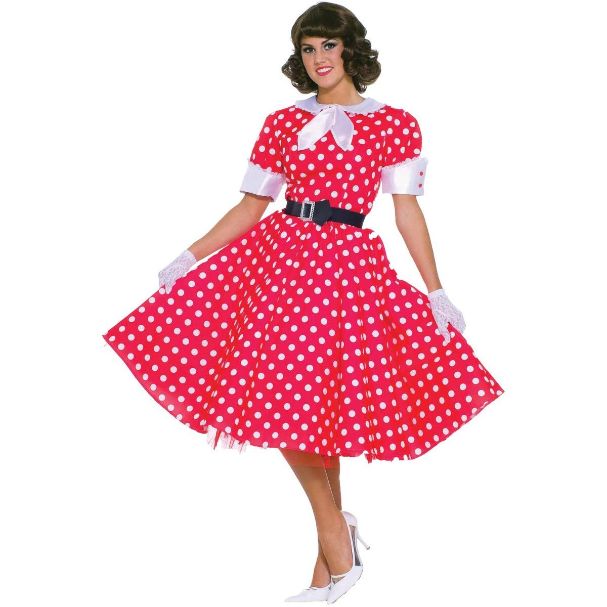 dc2716f6e Disfraz De Vestido Años 50 Para Mujer