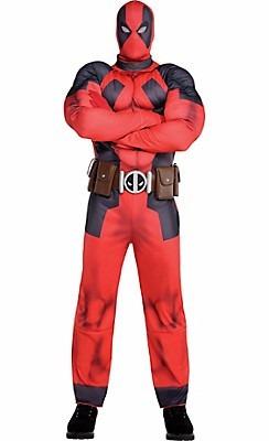disfraz deadpool musculatura original rubie's men's marvel