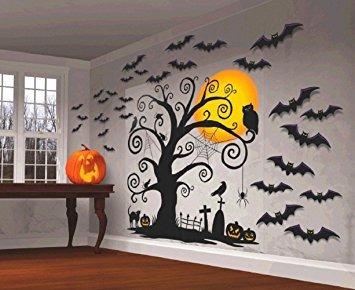 disfraz decoración de halloween decoración de la pared ~ 5