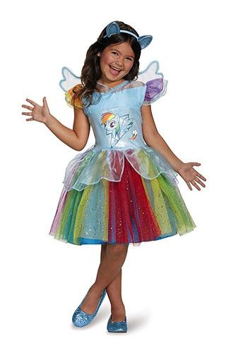 disfraz disguise rainbow dash + tutú premium mi pequeño pony
