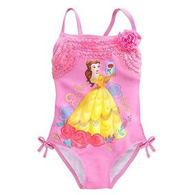 Disfraz Disney Belle Traje De Bano Para Ninas Tamano 3 Rosa