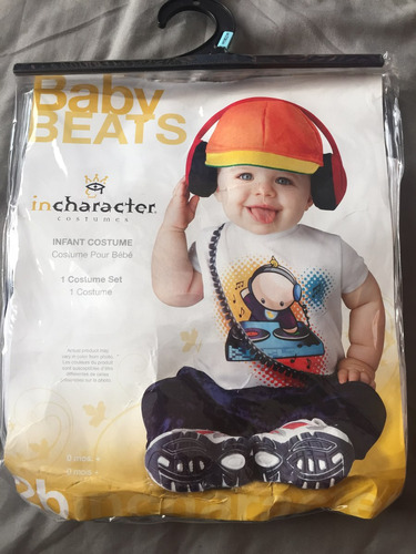 disfraz dj bebe talla s (6-12 meses)