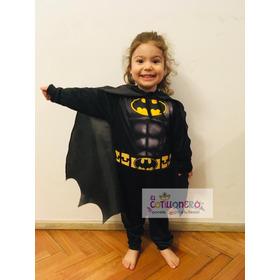 Disfraz Económico De Batman  Infantil + Mascara Rigida