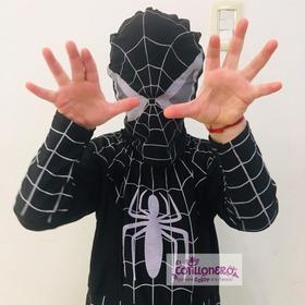 Disfraz Económico De Hombre Araña Negro  Infantil X 1