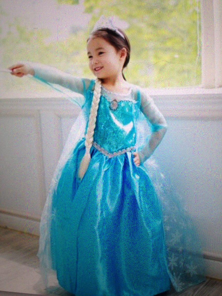 5e713713f Disfraz Elsa Frozen Con Peluca Capa Y Corona -   930.00 en Mercado Libre