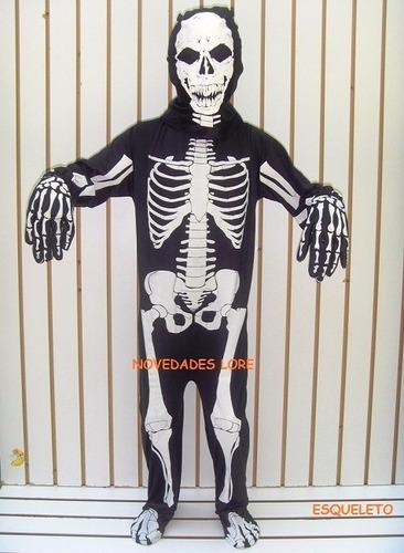 disfraz esqueleto calaca calavera muerte niños halloween