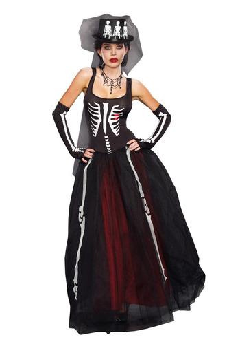 disfraz esqueleto mujer halloween calavera catrina muertos
