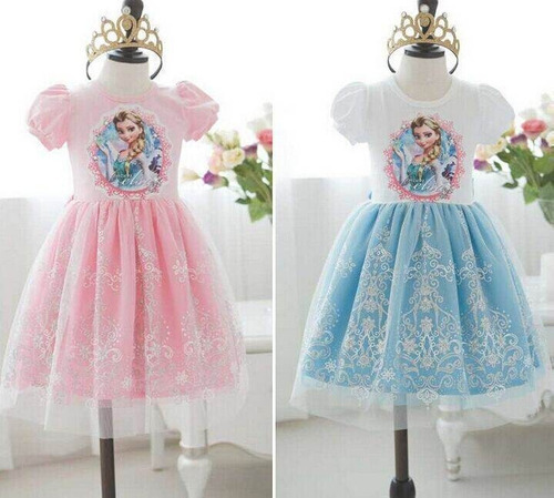 disfraz frozen princesa elsa ana vestido niña no disney