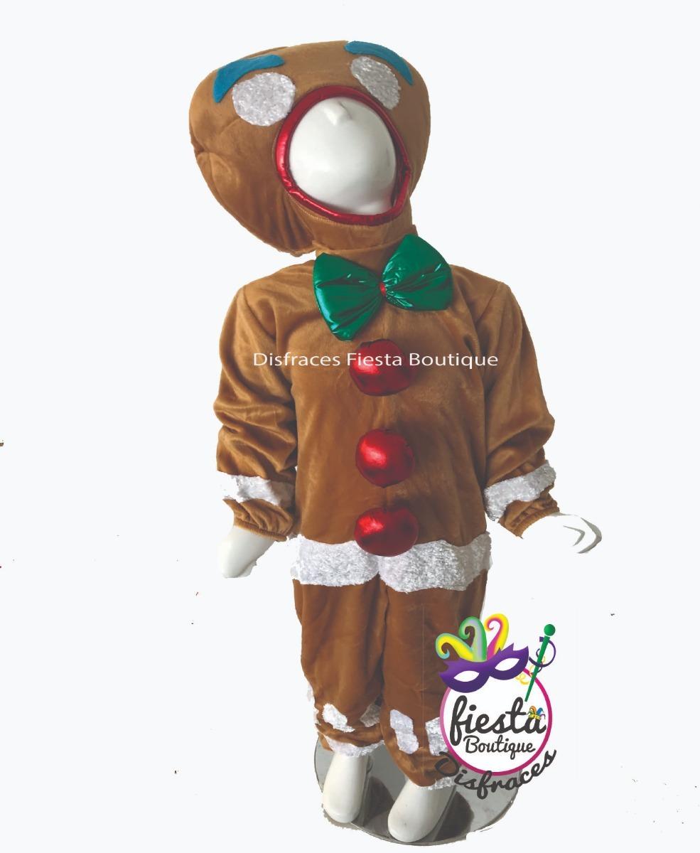 disfraz galleta jengibre niña niño navidad pastorela fiestas. Cargando zoom. b96077404eb3