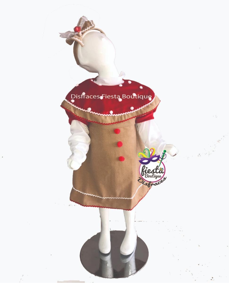 disfraz galleta jengibre niño niña navidad pastorela fiestas. Cargando zoom. fd2859a0879e