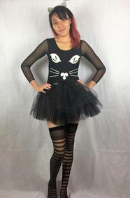 a93f224418 Disfraz Gatita Fluorecente Sexy Halloween Adulto Envio Grati
