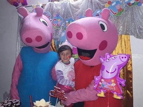 disfraz george pig y peppa pig