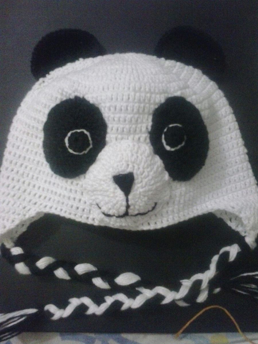 91db41dc3 disfraz gorro oso panda tejido niño varon bebes. Cargando zoom.