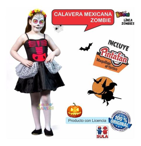 disfraz halloween calavera mexicana maquillaje mundo manias