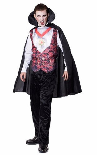 disfraz halloween dracula completo! adulto variedad! jiujim