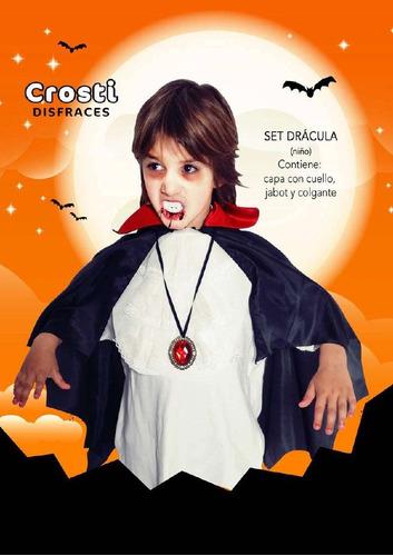 disfraz halloween set dracula talle unico niño  belgrano r
