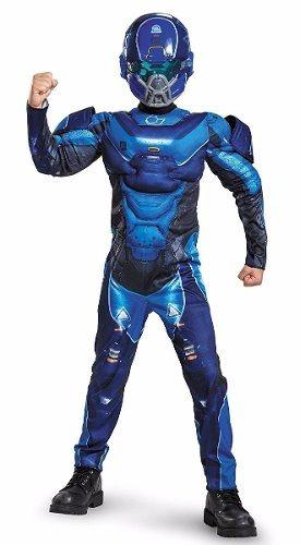 disfraz halo spartan azul talla 10-12 *envío gratis