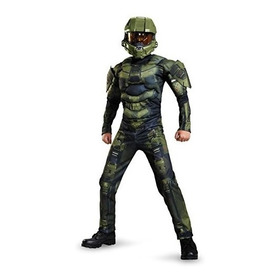 Disfraz Halo Traje De Músculo, Grande (10-12) Importado