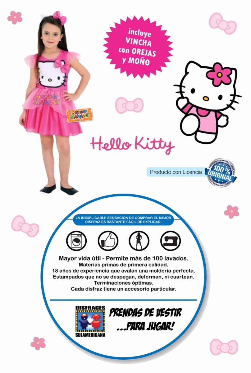 Disfraz Hello Kitty Licencia Original Sulamericana 69900 En - Disfraz-nia-original
