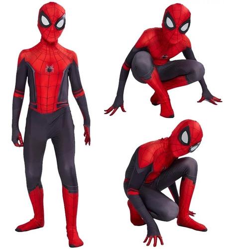 disfraz hombre araña spiderman  niño importado lejos de casa
