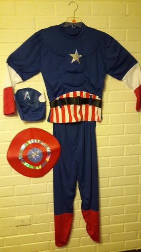 disfraz hombre talla s capitan america