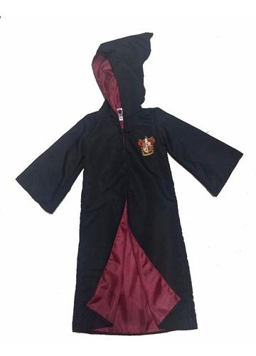 disfraz hpotter tunica + escudo talle niño