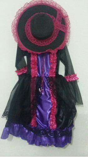 disfraz huesos muerte catrina con sombrero  envio gratis
