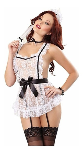 disfraz iooho women sexy lingerie french maid costume
