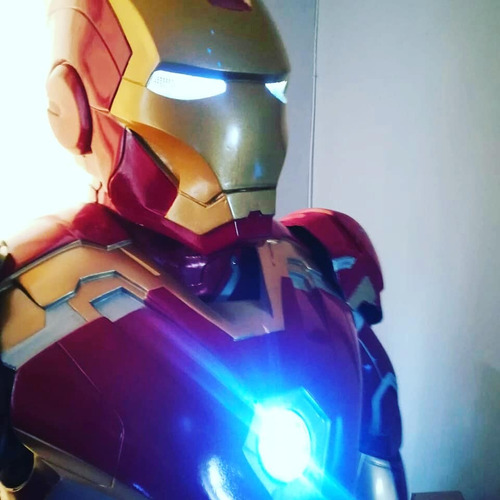 disfraz iron man armadura chile fibra de vidrio