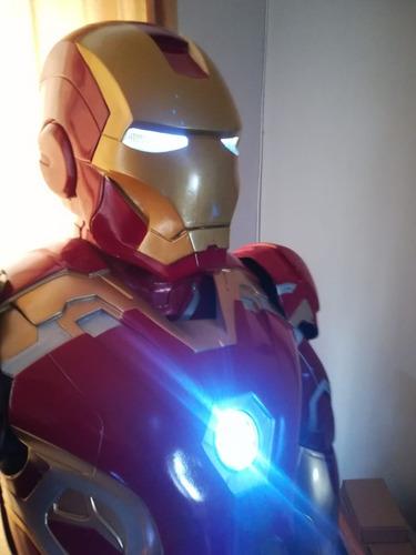 disfraz iron man armadura fibra de vidrio santiago chile