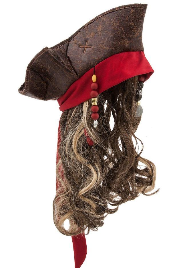60fab13e4e6e7 Disfraz Jack Sparrow Sombrero Y Peluca Disney Original -   450.00 en ...