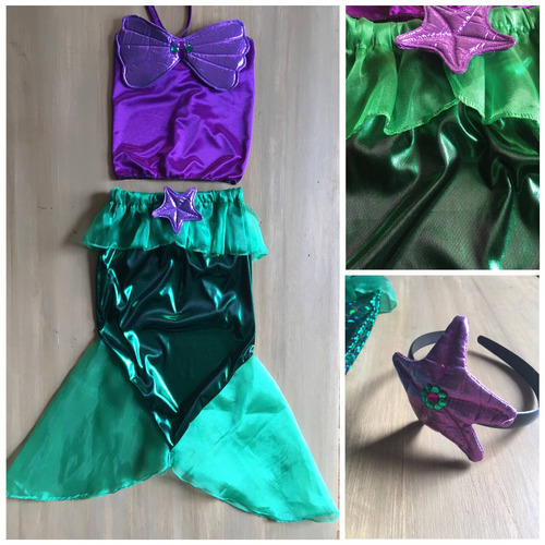 disfraz la sirenita ariel the little mermaid