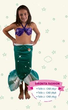 disfraz la sirenita fashion t:0